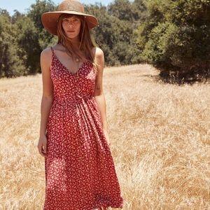 Christy Dawn Lincoln Dress In Carmine Calico XL